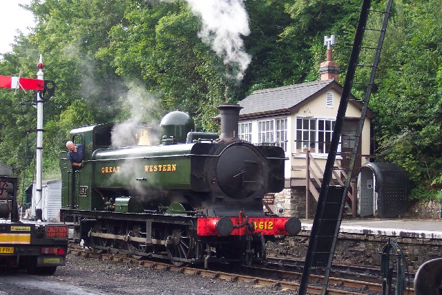 Steam train at Bodmin General Station