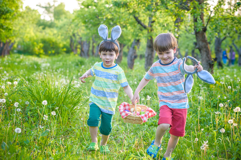 Easter egg hunt in Cornwall