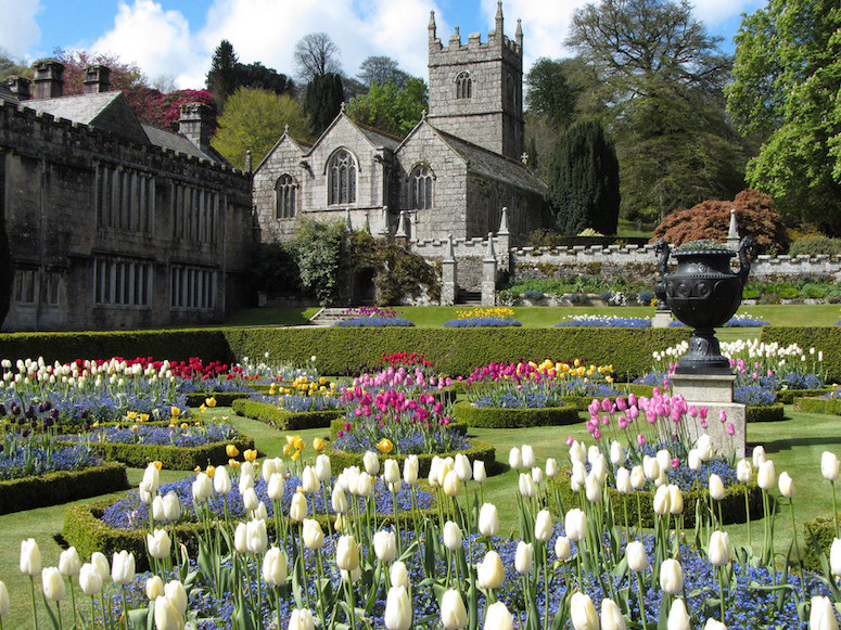 Gardens at Lanhydrock House in Cornwall