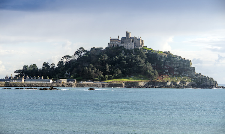 View of St Michael's Mount near Penzance in Cornwall, England