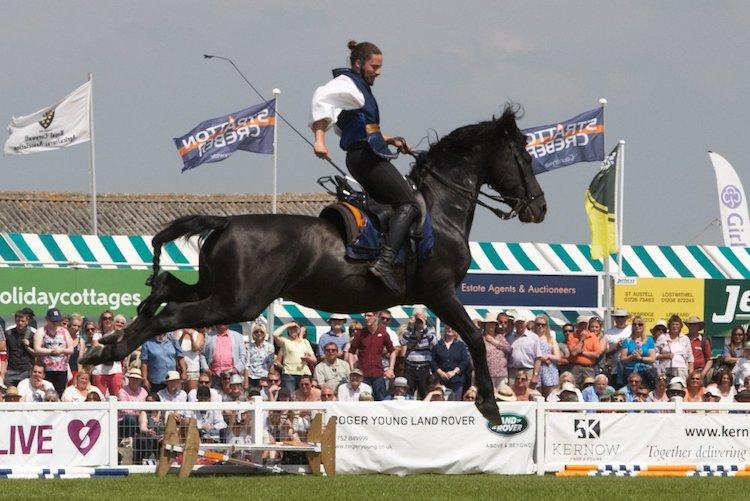 Horse display at Royal Cornwall Show
