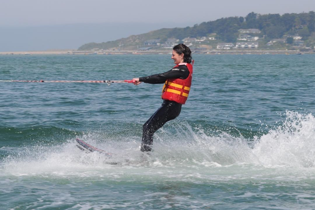 waterskiing in Cornwall