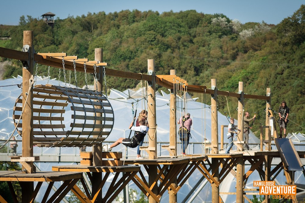 eden high ropes in Cornwall