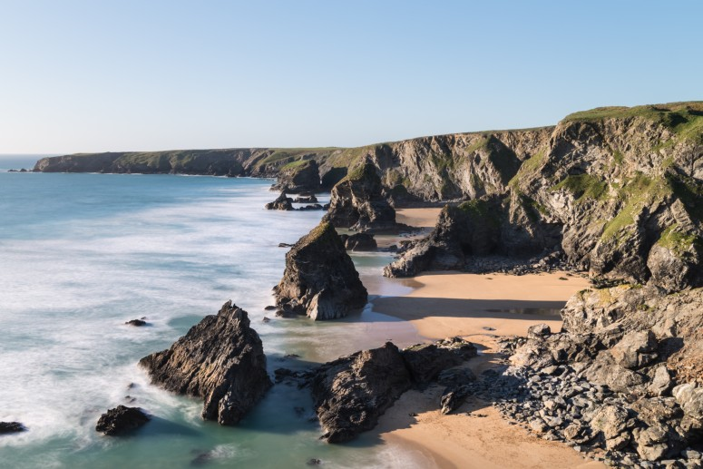 Autumn at Bedruthan Steps in Cornwall
