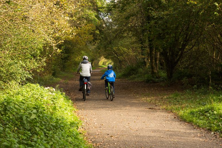 Cycling on the Camel Trail in Cornwall