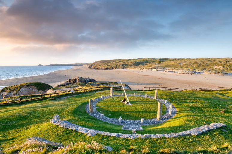 Perranporth Beach in Cornwall web