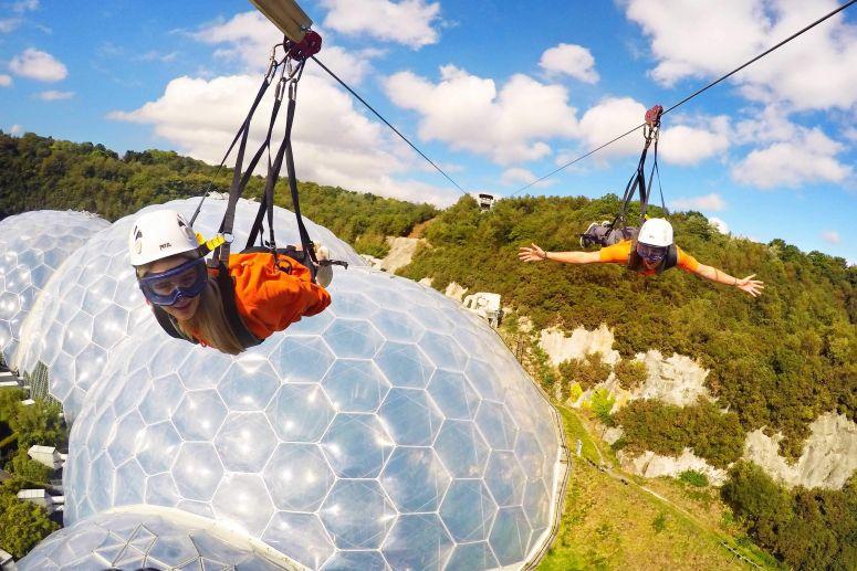Hangloose zip wire adventure in Cornwall