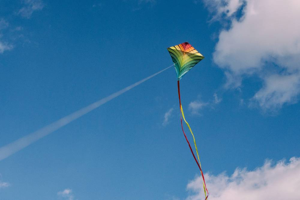 Fly a kite in Cornwall