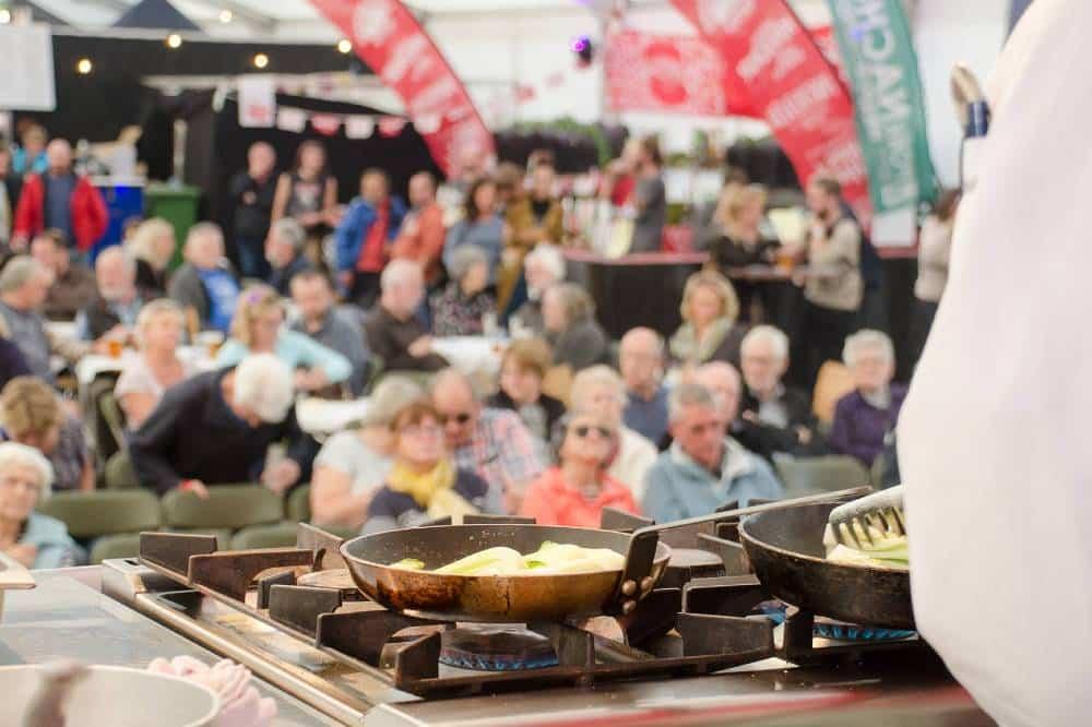 Food demonstration at a food festival